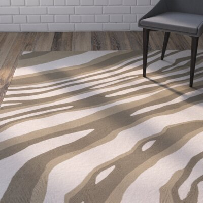 Mireia Beige/Light Gray Indoor/Outdoor Area Rug Rug Size: 2 x 3