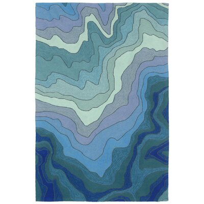Delacerda Hand-Tufted Blue Indoor/Outdoor Area Rug Rug Size: 2 x 3
