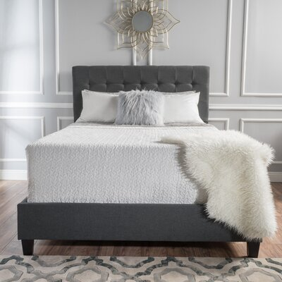 Alexandrina Sheepshead Bay Panel Bed Size: Cal-King, Color: Dark Gray