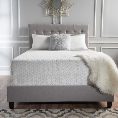 Alexandrina Sheepshead Bay Panel Bed Size: Cal-King, Color: Light Gray
