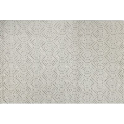 Mizel Hand Woven Wool Ivory Area Rug Rug Size: Rectangle 76 x 96