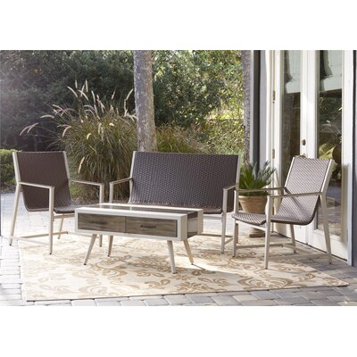 Delao Mid-Century 4 Piece Seating Group