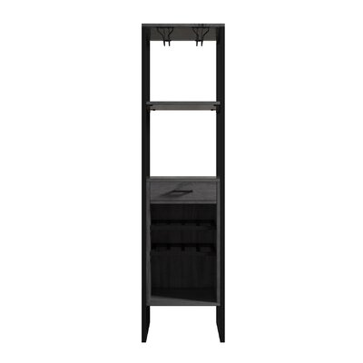 Delapaz 8 Bottle Floor Tower Wine Cabinet Finish: Gray