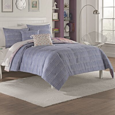 Delcambre 5 Piece Reversible Comforter Set Size: King