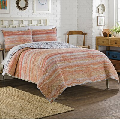 Delcastillo 3 Piece Reversible Quilt Set Size: King