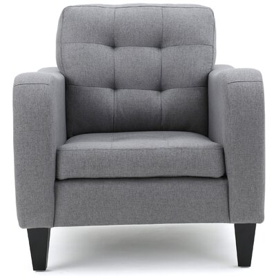 Deleon Fabric Armchair Upholstery: Gray