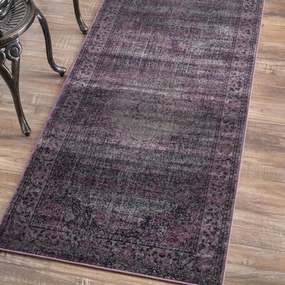 Faulkner Purple Area Rug Rug Size: Runner 27 x 8
