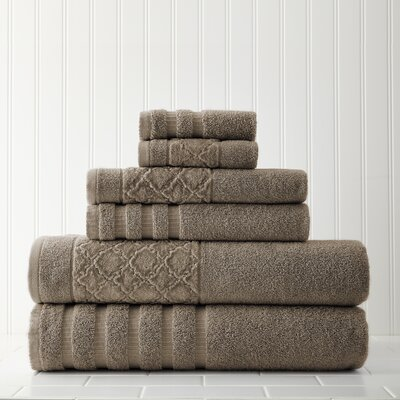 Solid 6 Piece Towel Set Color: Mocha