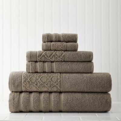 Solid 6 Piece Towel Set Color: Mocha