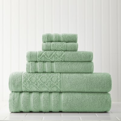 Solid 6 Piece Towel Set Color: Sage