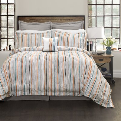 Delima 6 Piece Comforter Set Size: King