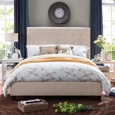 Alexandrina Sheepshead Bay Panel Bed Size: Queen, Color: Beige