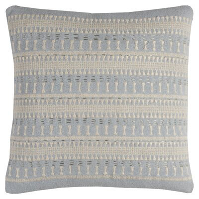 Deloera Cotton Throw Pillow Color: Light Blue