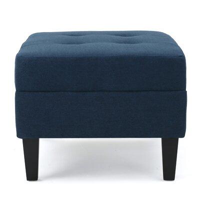 Aguila Ottoman Upholstery: Dark Blue