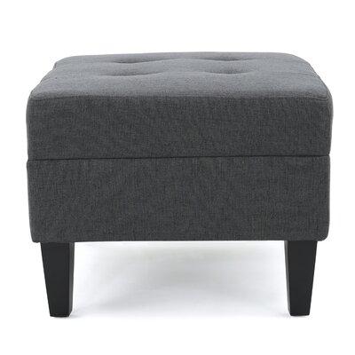 Aguila Ottoman Upholstery: Dark Gray