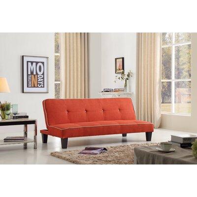 Raskin Sleeper Sofa Upholstery Color: Orange