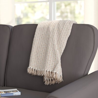 Bedoya Cotton Throw Blanket Color: Natural