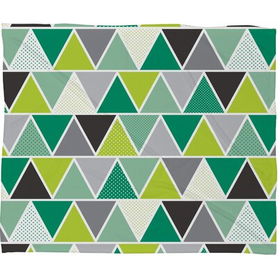 Spence Emerald Triangulum Plush Fleece Throw Blanket Size: Small