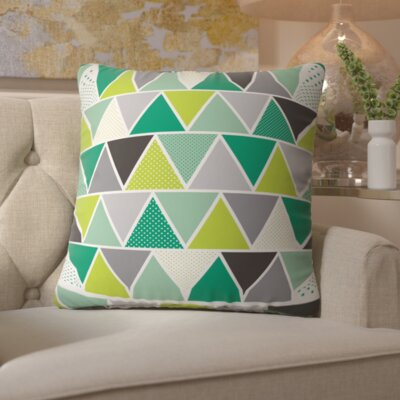 Spence Emerald Triangulum Throw Pillow Size: Medium