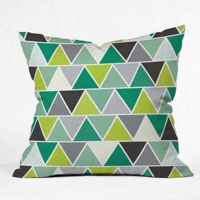 Spence Emerald Triangulum Throw Pillow Size: Large