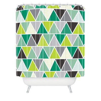 Spence Emerald Triangulum Shower Curtain