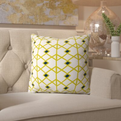 Spence Citron Indoor/outdoor Throw Pillow Size: 16 H x 16 W x 4 D