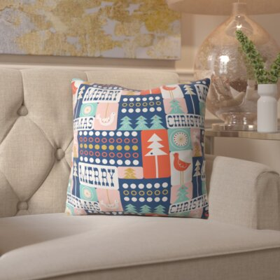Christmas Collage Chille Throw Pillow Size: 16 H x 16 W x 4 D