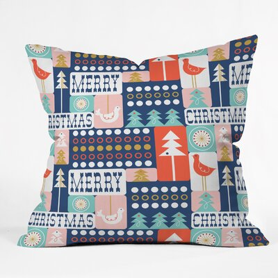 Spence Christmas Collage Chille Throw Pillow Size: 26 H x 26 W x 7 D