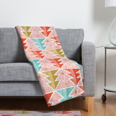 Trim A Tree Chill Fleece Polyester Throw Blanket Size: 60 L x 50 W