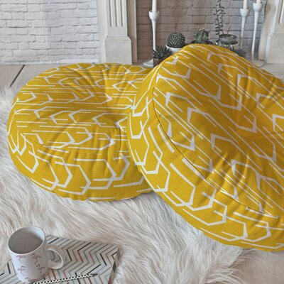 Spence Going Places Sunkissed Round Floor Pillow Size: 26 H x 26 W x 6 D