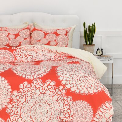 Ahlstrom Delightful Doilies Duvet Cover Set Size: King