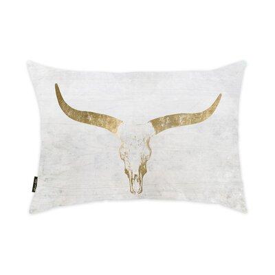 Aikens Evening Desert Skull Sand Velvet Lumbar Pillow