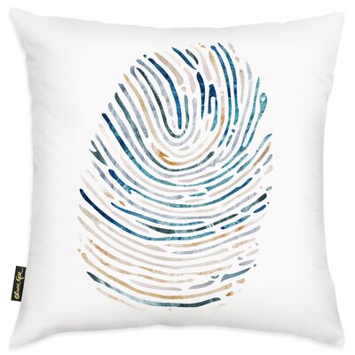 Patterson Thumbprint Poly-linen Throw Pillow