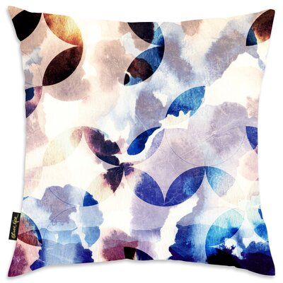 Patti Floral Poly-linen Throw Pillow