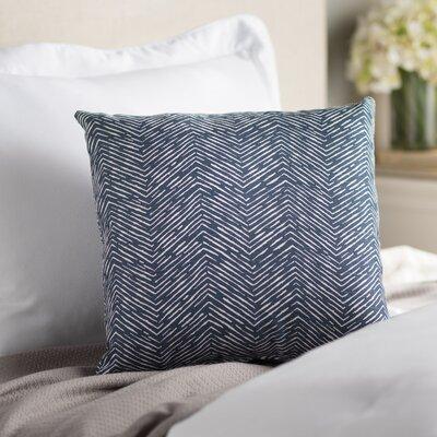 Alcazar Cotton Throw Pillow Color: Navy Blue