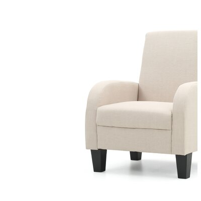 Tiff Modern Occasional Armchair Upholstery: Tan