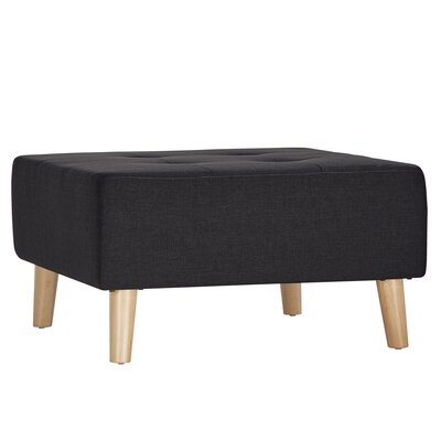 Alley Ottoman Upholstery: Dark Grey