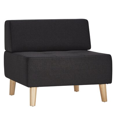 Alley Slipper Chair Upholstery: Dark Gray