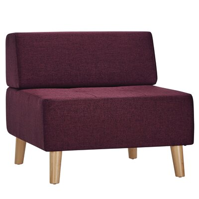 Alley Slipper Chair Upholstery: Tawny Port
