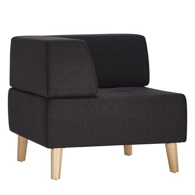 Alley Corner Side Chair Upholstery: Dark Grey