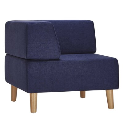 Alley Corner Side Chair Upholstery: Twilight Blue