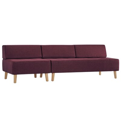 Alley Armless Sofa Upholstery: Tawny Port