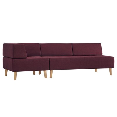 Alley One Arm Sofa Upholstery: Tawny Port