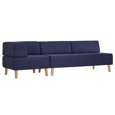 Alley One Arm Sofa Upholstery: Twilight Blue