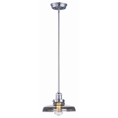 Alfano Hi-Bay 1-Light Pendant Finish: Satin Nickel, Bulb: Included