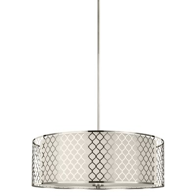 Krumm 60W 4-Light Drum Pendant