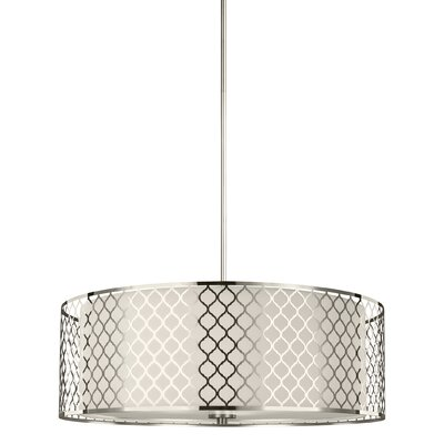 Krumm 4-Light Wire Drum Pendant