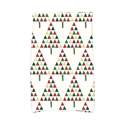 Triangle Trees II Hand Towel Color: Cream
