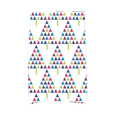 Triangle Trees II Hand Towel Color: White