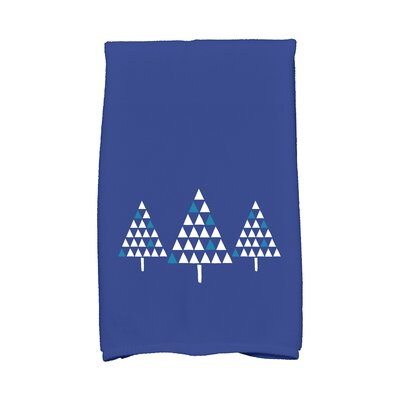 Trio of Trees Hand Towel Color: Blue